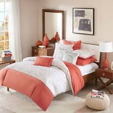 Buy Coral Duvet Cover Set from Bed Bath & Beyond & INK+IVY Muriel King/California King Duvet Cover Set in Coral Adamdwight.com