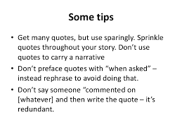 How To Write A Quote Awesome Using Quotes In Newswriting
