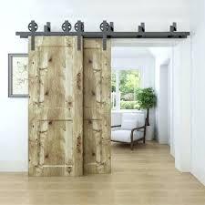 rustic closet barn doors rolling sliding spoke wheel bypass barn door hardware kit bypass room pantry closet