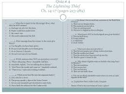 quiz 4 the lightning thief ch 14 17 pages 213 282