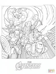 Coloring Pages Knockout Avengers Coloring Page Marvels The