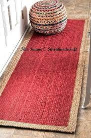 rag rug runner jute rug runner rag rug braided runner rug meditation mat rug runner bohemian rag rug runner