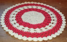 uniquely crocheted round table topper centrepiece