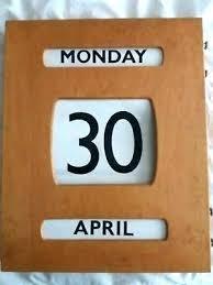 wooden perpetual wall calendar kit vintage by