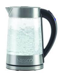 nesco gwk 02 electric glass water kettle 1 8 quart