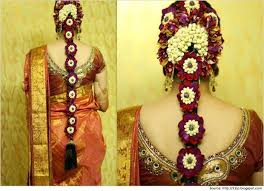hairstyles for sarees south indian brides