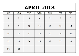 april 2018 word calendar april 2018 calendar in pdf word excel printable template