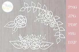 Circular frame set free vector. 59 Flower Border Svg Designs Graphics