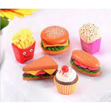 Combo 06 mô hình các món ăn fast food trang trí nhà búp bê, tiểu cảnh,  bonsai giảm chỉ còn 50,000 đ