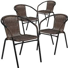 wicker patio chairs. Wonderful Patio Abrahamic Stacking Patio Dining Chair Set Of 4 Throughout Wicker Chairs