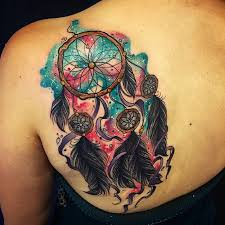 Dream Catcher Tattoo Color 100 Awesome Colorful Dreamcatcher Tattoos 36