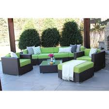 modern patio furniture. Hiawatha 8-PC Modern Outdoor Rattan Patio Furniture Sofa Set-Modular A