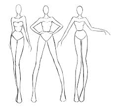 Fashion Model Template For Sketching Metabots Co