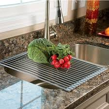 Over The Sink Drying Rack Over The Sink Roll Up Drying Rack Colander The Green Head