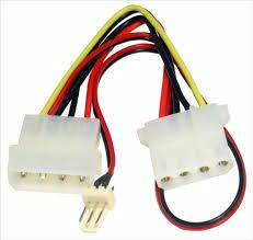 power splitter 5¼ male to female and 3 pin case fan molex extension fan power