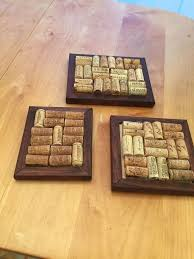picture of wine bottle corks into a trivet