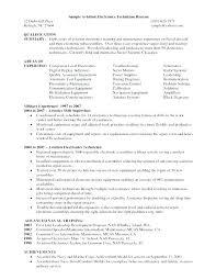 Electronics Technician Resume Samples Electronic Test Technician Resume Sample Samples Orlandomoving Co