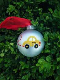 VW Beetle Personalized Christmas Ornament - Hand Painted Yellow ...