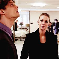 spencer reid and jj. little shout out to reid issue with bright lights and headaches , back when he was having major issues . spencer jj