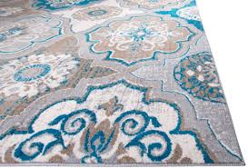 image of blue and brown area rugs pattern