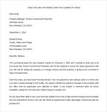 Notice Of Lease Termination Letter From Landlord To Tenant Free Lease Termination Letter Rome Fontanacountryinn Com