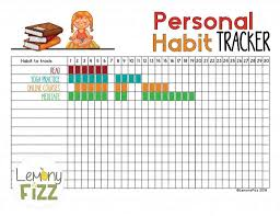 Professional Goals List 165 Amazing Habit Trackers You Need To Track Everything