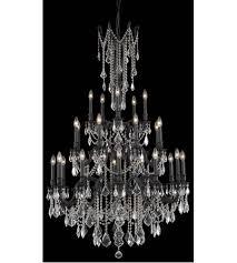 elegant lighting 9225g38db rc rosalia 25 light 38 inch dark bronze foyer ceiling light in clear royal cut