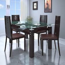 bantia robin glass top dining set 4