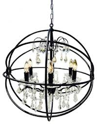 round black wrought iron globe crystal chandelier traditional chandeliers
