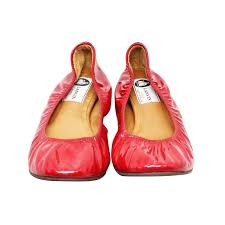 lanvin red patent leather ballet flats 1 thumbnail