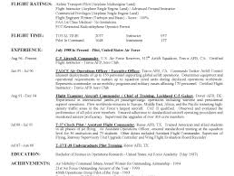 Airline Pilot Resume Template Best Of Military Air Force Sample