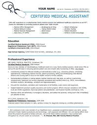 Resume Examples For Medical Assistant Adorable Certified Medical Assistant Resume Medical Assisting X Certified