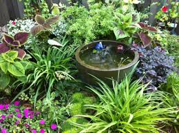 Small Picture small shade gardens Partial shade garden nook with water feature