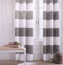 Curtains Grey And White Striped Tommy Hilfiger Cabana Stripe Gray 2pc Window