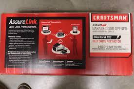 craftsman assurelink internet dc belt drive garage door opener 3043