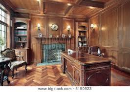 office paneling. image of wood paneled office with fireplace paneling l