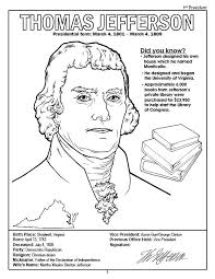 Thomas Jefferson Coloring Page - Printable Coloring Image