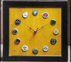 father s day diy 4 make a really cool clock with the used bottle caps