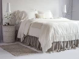 100 linen luxury french vintage ruffled duvet cover by bealinen
