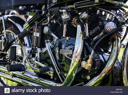 vintage hrd vincent motorcycle engine classic british bike stock