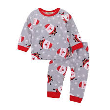 Christmas Pajamas Set Onesie Baby Girl Clothes Toddler Girls Pjs Sleepwear Kids Pajama Sets Boys Nightwear