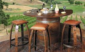 wine barrel outdoor furniture. Wine Barrel Dining Table Recycled Outdoor Furniture A