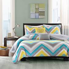 gray and yellow bedding.  Yellow Amazoncom Intelligent Design Elise Comforter Set FullQueen Bedding Sets   Blue Yellow Grey Cheveron U2013 5 Piece Teen Bed Peach Skin Fabric  Intended Gray And Yellow R