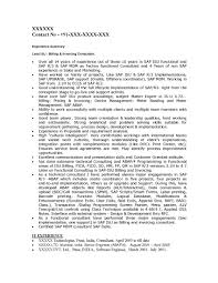Sample Resume Sap Hr Functional Consultant Resume Ixiplay Free