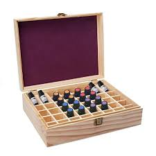 48 slot essential oil bottle wooden storage box case wood aromatherapy organizer container makeup organizers