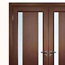 aries interior double door in a wenge finish with glass strip 1 throughout plan 6