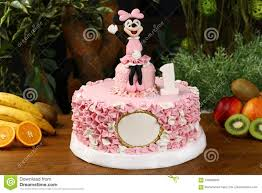 Kids Birthday Party Cake Mickey Mouse Consept Editorial Image