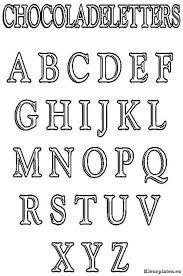 Chocolade Letters Kleurplaat