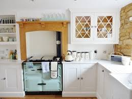 Coloured Small Kitchen Appliances Cottage Kitchen Evoking Warm Ambience And Traditional Wooden