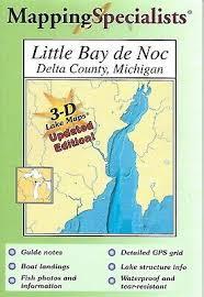 Little Bay De Noc Depth Chart Little Bay De Noc Michigan Fishing Hot Spots Maps Fishing